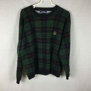 Vtg. Tommy Hilfiger Sweater MED Colorblock Crest